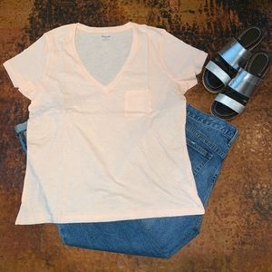 LAST ONE*NWT - Madewell Whisper Cotton V-neck Tee